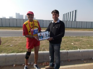 Dr Ashis Roy: 80+ and finished his 114th marathon